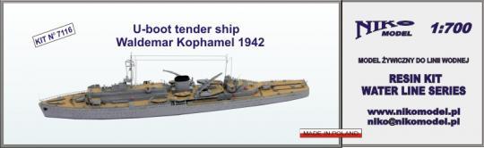 Kriegsmarine U-Boot Tender Waldemar Kophamel 1942