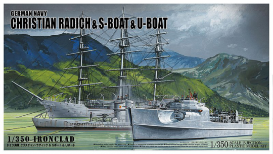 German Navy Christian Radich & S-Boat & U-Boat