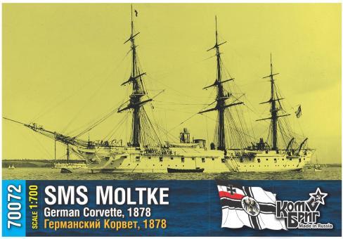 SMS Moltke, German Corvette, 1878