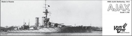HMS Ajax, Battleship 1912