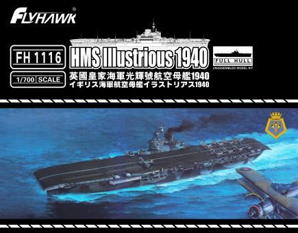 HMS Illustrious Aircraft Carrier 1940