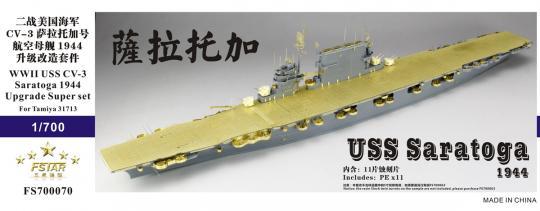 WWII USS Saratoga CV-3 1944 Super upgrade