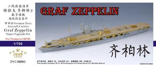 WWII German Navy Aircraft Carrier Graf Zeppelin super upgrade set for Trumpeter 06709