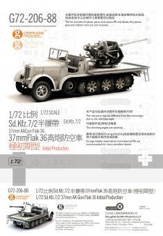 1/72 Sd.Kfz.7/2 37mm Flak 36 (Initial Production)