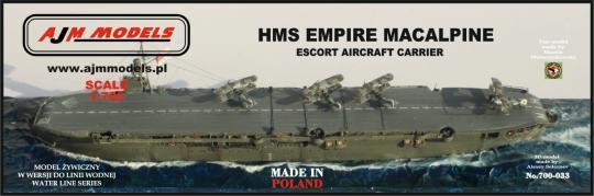 HMS Empire MacAlpine Escort Aircraft Carrier