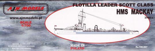 HMS Mackay Flottilla Leader Scott Class 1945