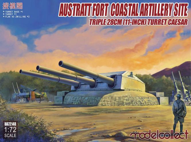 Austratt Fort Coastal Artillery Gneisenau 28cm Turret Caesar