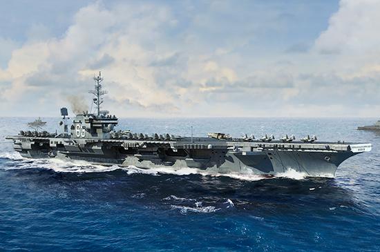 USS Kitty Hawk CV-63 USN Aircraft Carrier