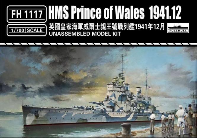 HMS Prince of Wales British Battleship 1941