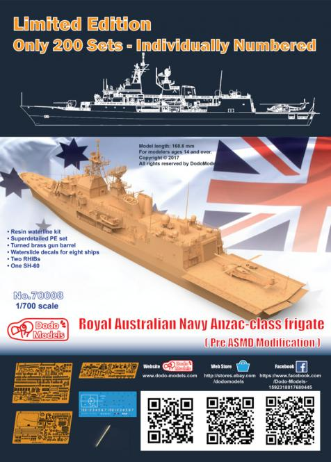 Royal Australian Navy Anzac-class Frigate (pre ASMD Modification)