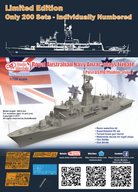 Royal Australian Navy Anzac-class Frigate (post ASMD Modification)
