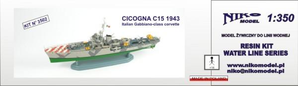 Cicogna C15 1943 Gabbiano-class corvette