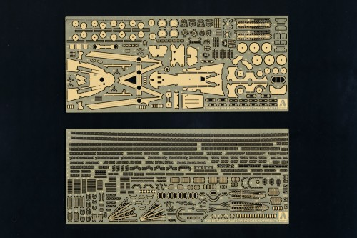 IJN Battleship Yamato Type Photo Etched Parts Set and wood deck