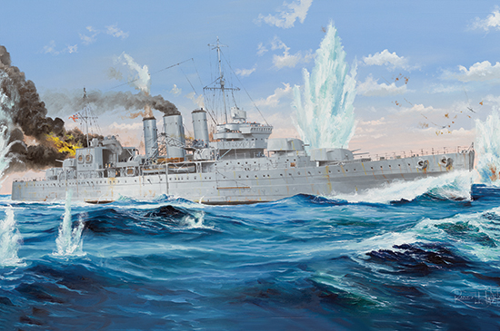 HMS Cornwall Heavy Cruiser