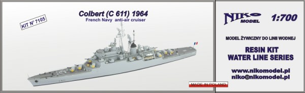 Colbert (C 611) 1964 French Navy anti-air cruiser