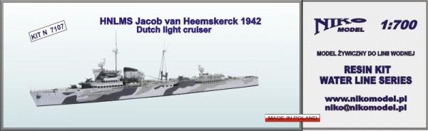 HNLMS Jacob van Heemskerck 1942, Dutch Light Cruiser