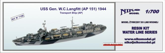 USS Gen. W.C. Langfitt (AP 151) Transport Ship 1944