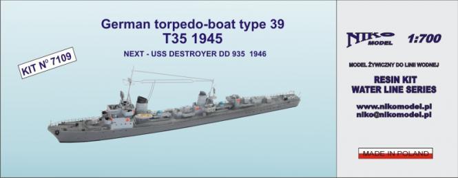 German Torpedo-Boat Type 39 T35 1945