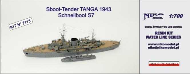 German S-Boot-Tender Tanga 1943 plus Schnellboot S-7