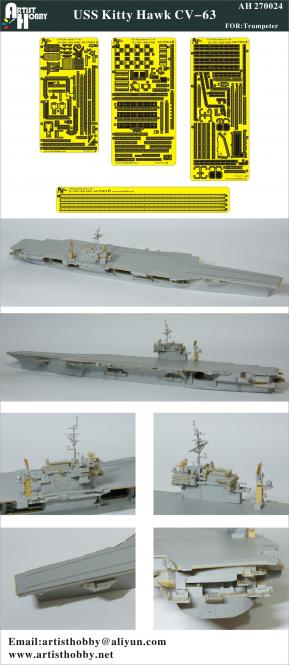 USS Kitty Hawk aircraft carrier for Trumpeter