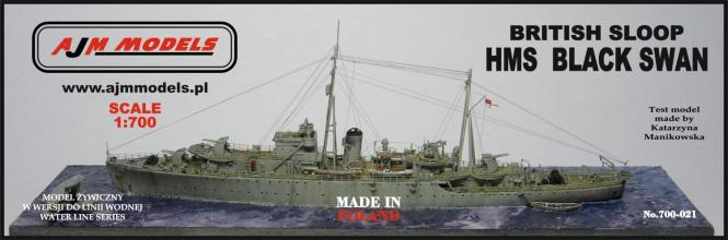 British Sloop HMS Black Swan