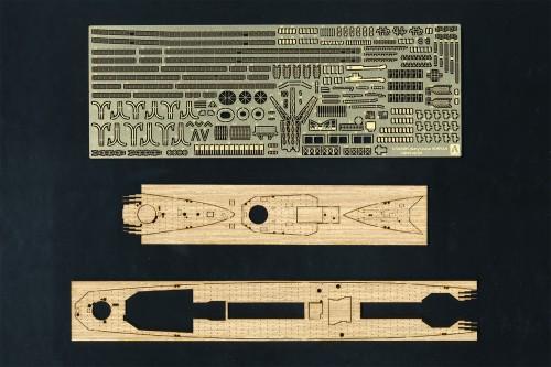 British Heavy Cruiser HMS Norfolk Photo Etched Parts Set (incl. wood deck)