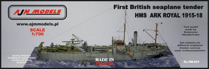 HMS Ark Royal (1915-18) First British Seaplane-Tender