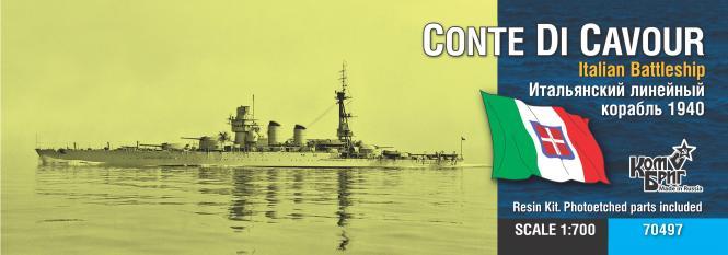 Conte di Cavour Italian Battleship 1940