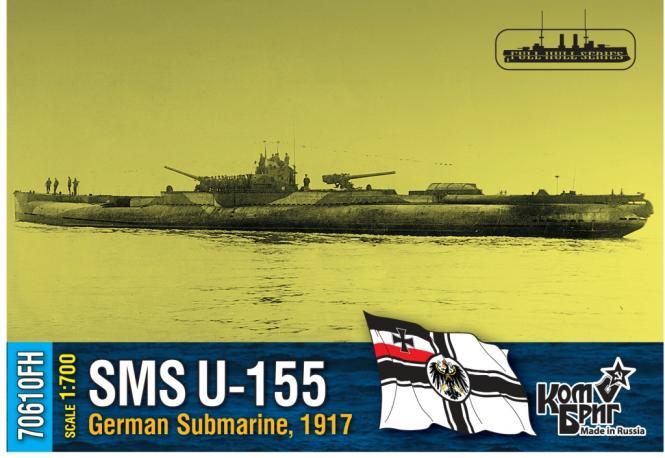 SMS U-155, German Submarine, 1917