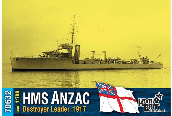HMS Anzac, destroyer leader 1917