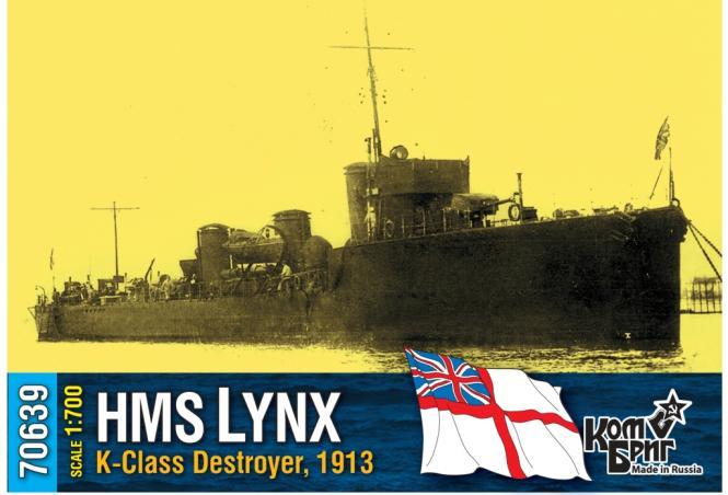 HMS Lynx, K-class destroyer 1913