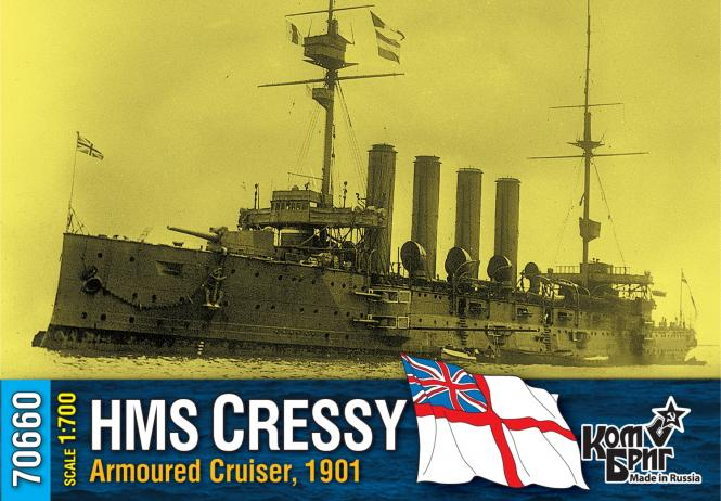 HMS Cressy, British Armoured Cruiser, 1901