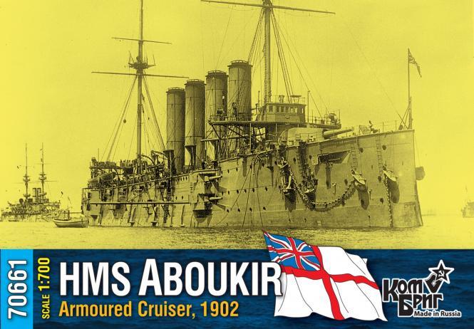HMS Aboukir, British Armoured Cruiser, 1902