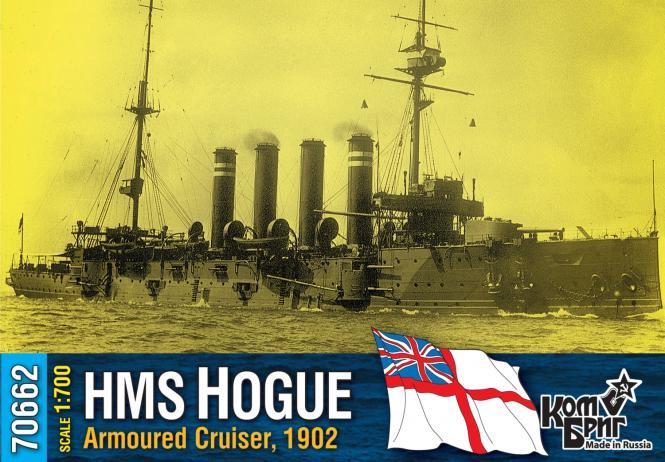 HMS Hogue, British Armoured Cruiser, 1902
