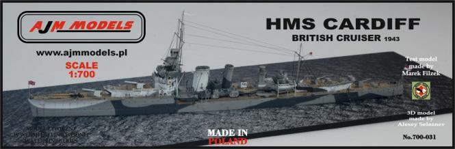 HMS Cardiff 1943\; Britischer Leichter Kreuzer
