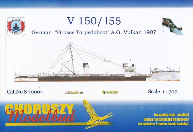 V 150 /155 AG Vulkan German Grosses Torpedoboot 1907