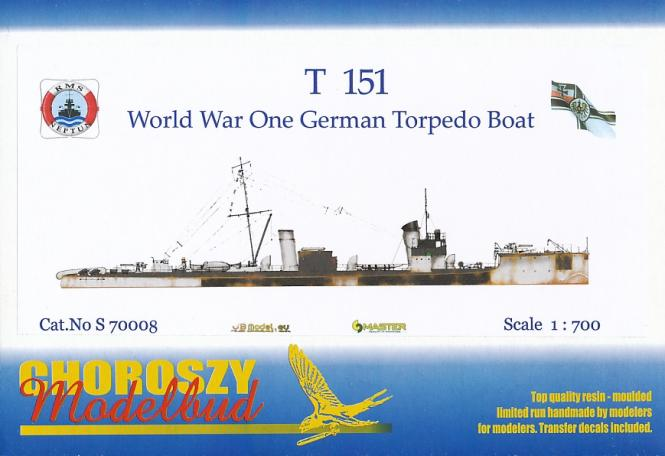 T 151 WWI German Torpedo Boat