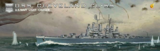 USS Cleveland CL-55 US Navy Light Cruiser