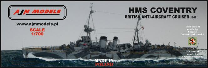 HMS Coventry 1942\; Britischer Flakkreuzer