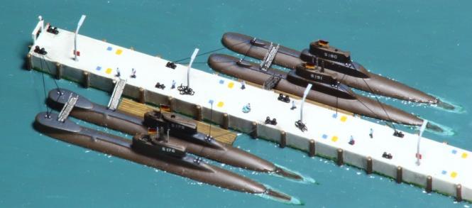 Deutsche U-Boote Typ 205mod und 206A