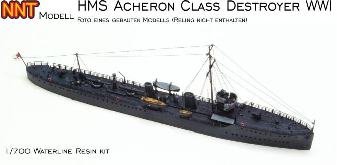 British Acheron Class Destroyer WWI