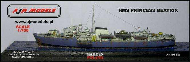 British landing ship HMS Princess Beatrix
