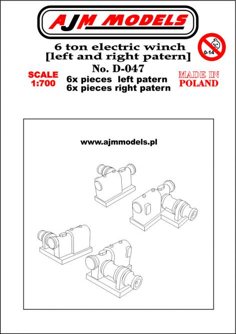6 ton electric winch (left and right pattern) x12