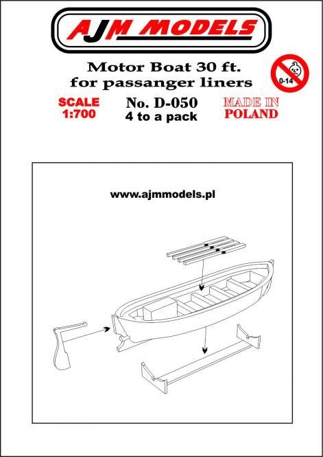 30 ft Motor Boat for Passenger Liners (x4)
