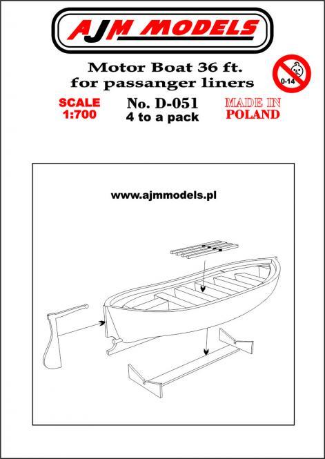 36 ft Motor Boat for Passenger Liners (x4)