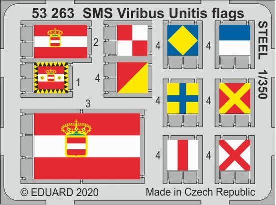 SMS Viribus Unitis - flags steel painted