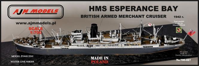 HMS Esperance Bay British Armed Merchant Cruiser 1942