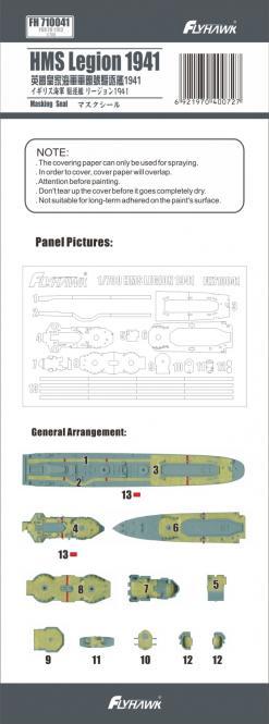 HMS Legion 1941 deck paint mask