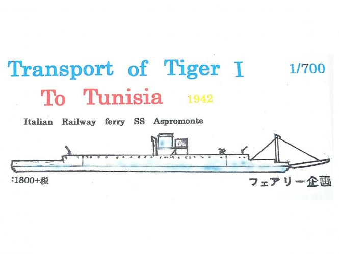Transport of Tiger I to Tunisia - Italian Railway Ferry SS Aspromonte