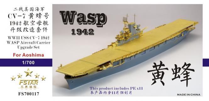 WWII aircraft carrier USS Wasp CV-7 upgrade set for Aoshima